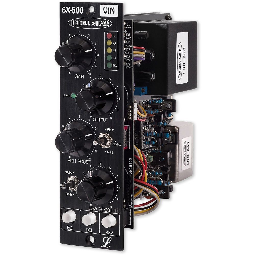 PREAMP P/MICROFONES / EQ 500 SERIES LINDELL AUDIO 6X-500VIN