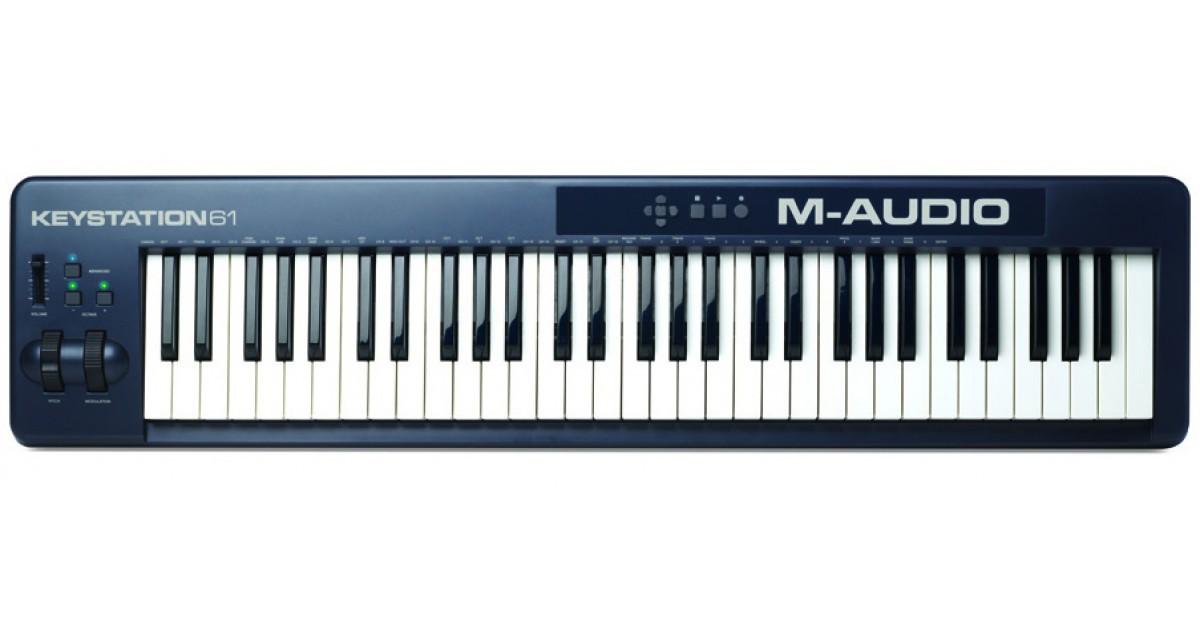TECLADO CONTROLADOR MIDI M-AUDIO KEYSTATION 61 II