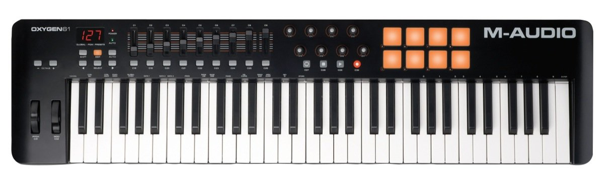 TECLADO CONTROLADOR MIDI M-AUDIO OXYGEN 61 IV