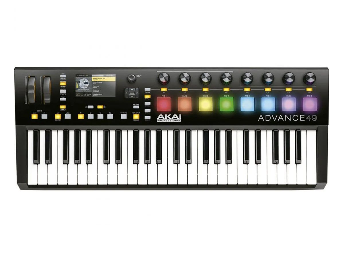 TECLADO CONTROLADOR MIDI USB AKAI ADVANCE 49