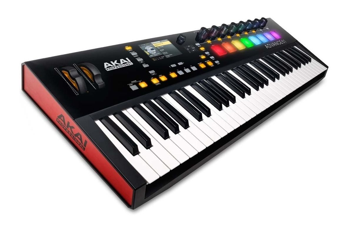 TECLADO CONTROLADOR MIDI USB AKAI ADVANCE 61