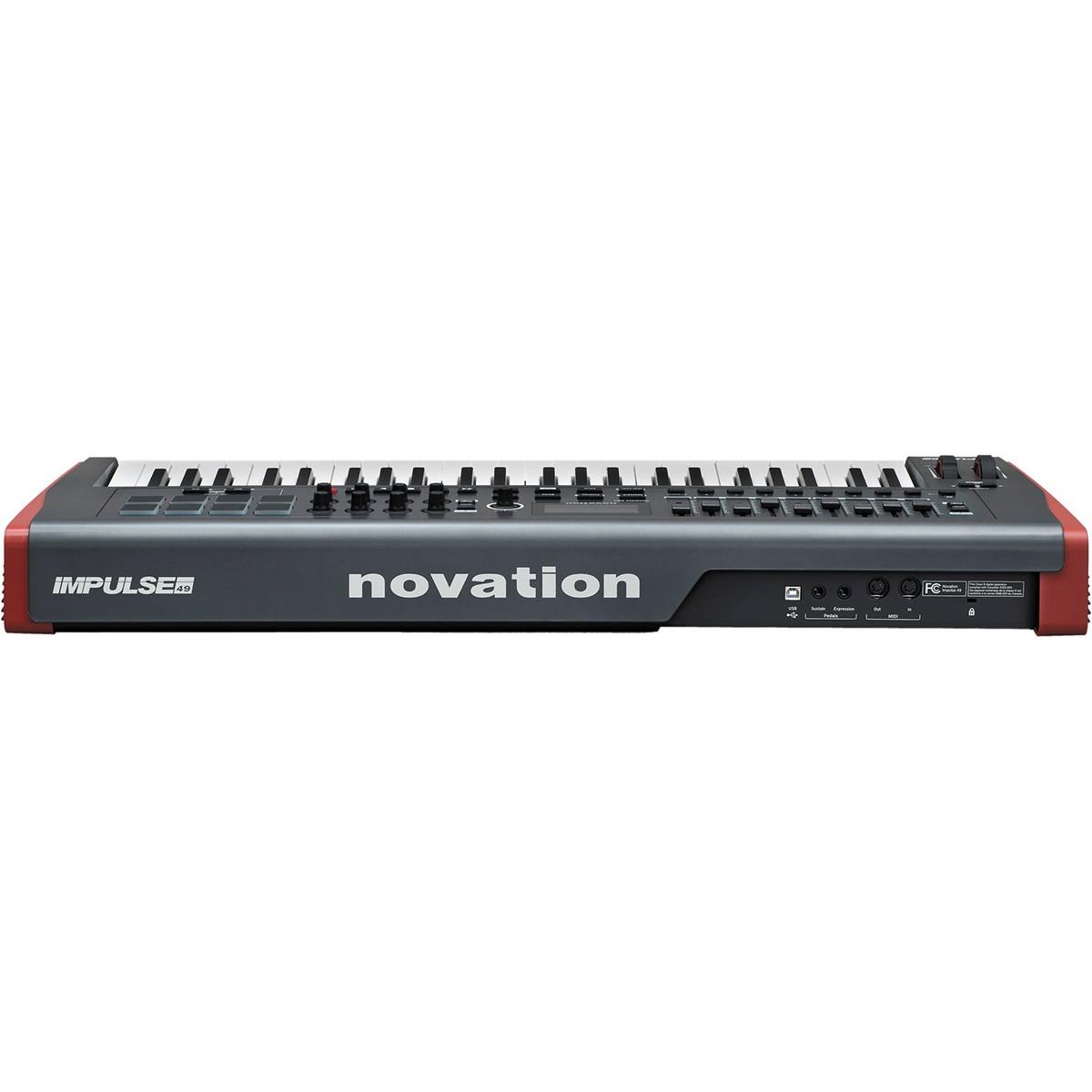 TECLADO CONTROLADOR MIDI USB NOVATION IMPULSE 49
