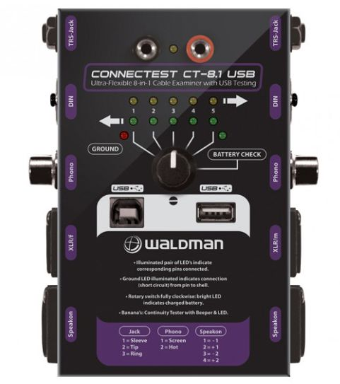 TESTADOR DE CABOS WALDMAN CONNECTEST CT-8.1 USB