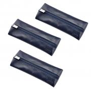 Kit com 3 bolsas de mão estojo em Couro Legítimo CP3007 Galvani