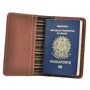 Porta Passaporte Go em Couro 879 Galvani