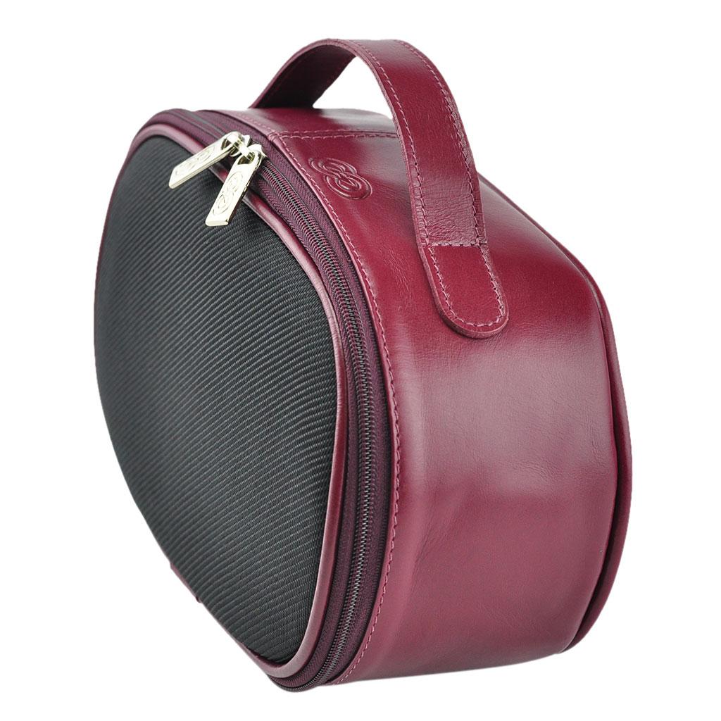 Bolsa de mão Necessaire / Frasqueira Ravena em Nylon com couro - Galvani