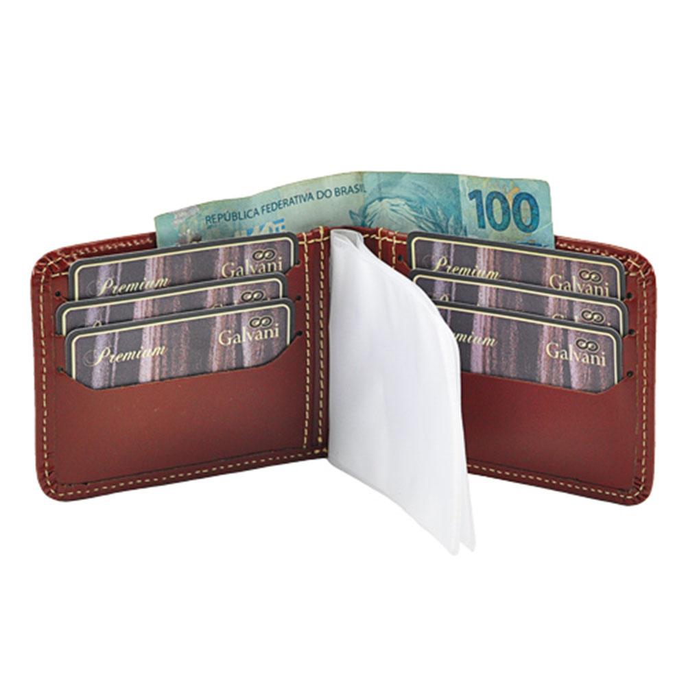 Carteira Masculina Dolar em Couro Legítimo 1020 Galvani