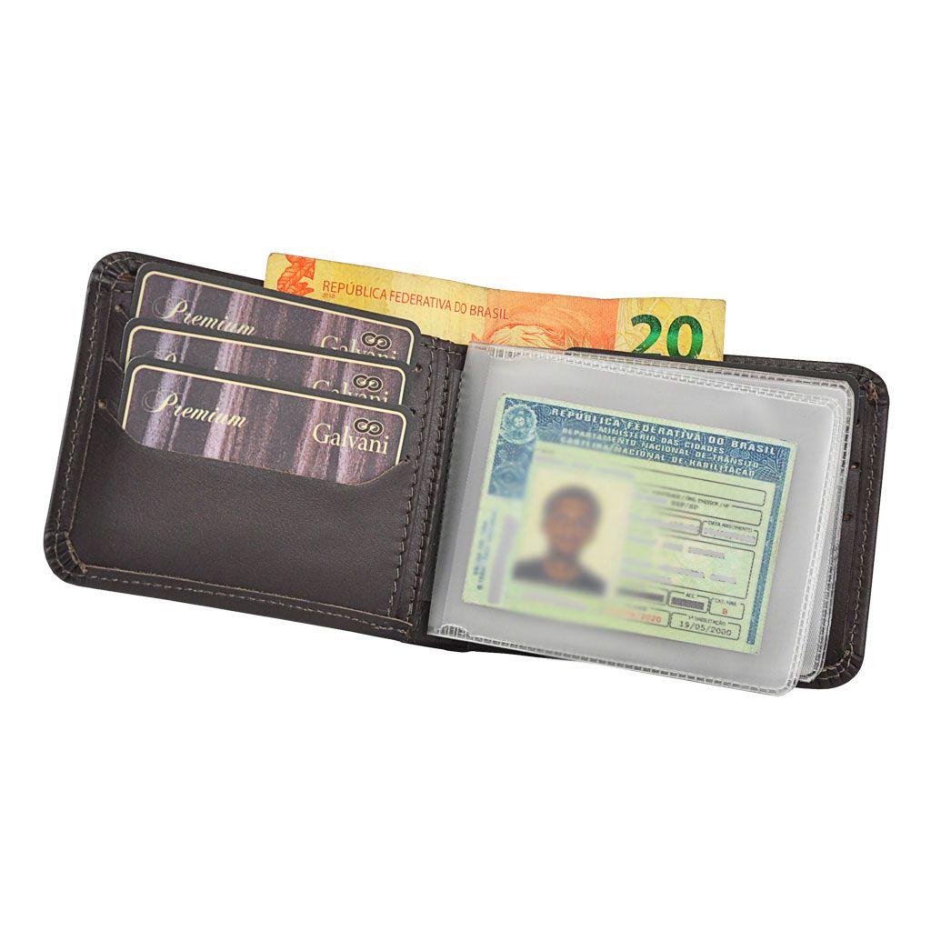 Carteira Masculina Dolar em Couro legítimo