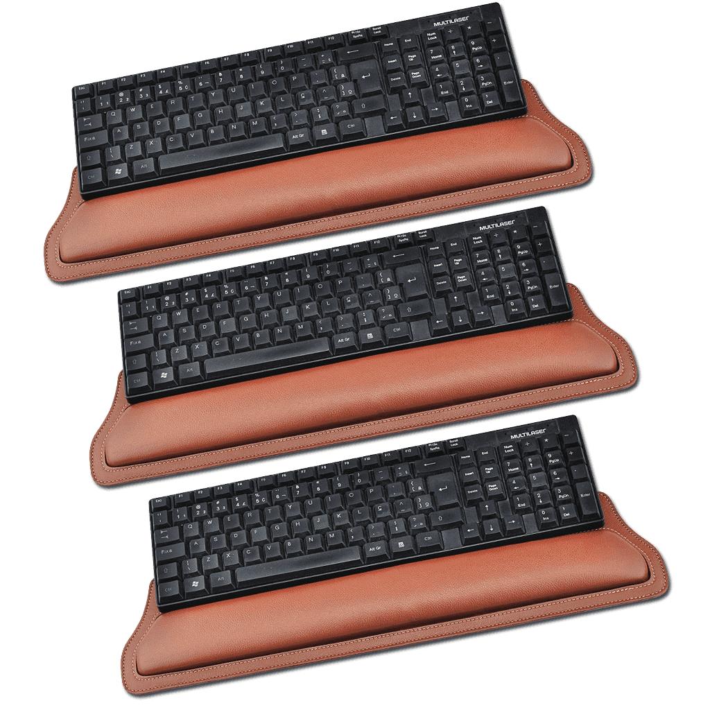 Kit de apoio ergonomico para teclado Savona em Couro  - Galvani