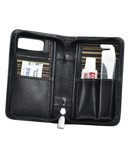 Kit Higiene Bucal Pratik em Couro legítimo