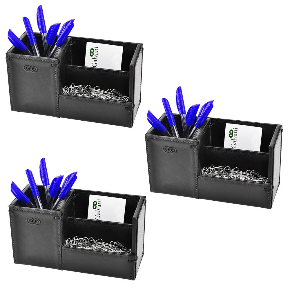 Kit Organizador para Escritório em Couro CE3010 Galvani