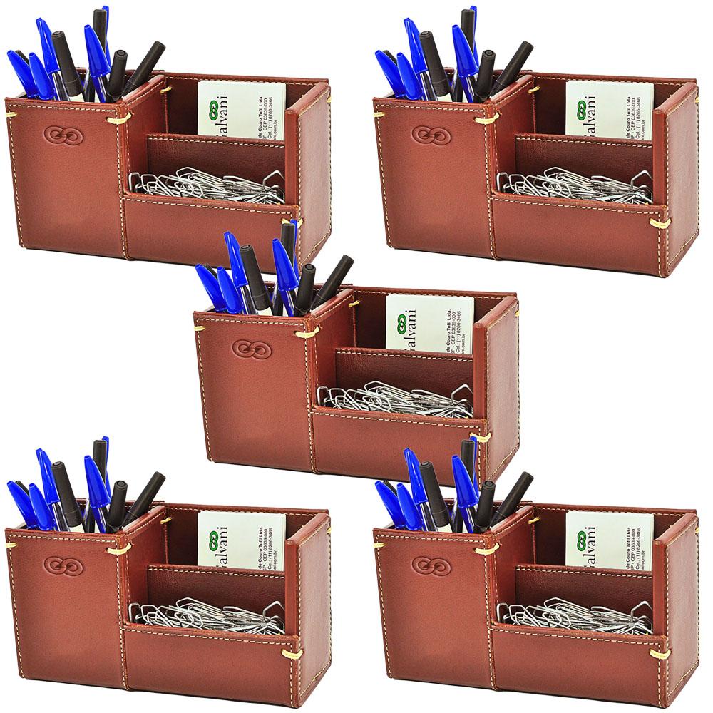 Kit Organizador para Escritório em Couro CE3011 Galvani