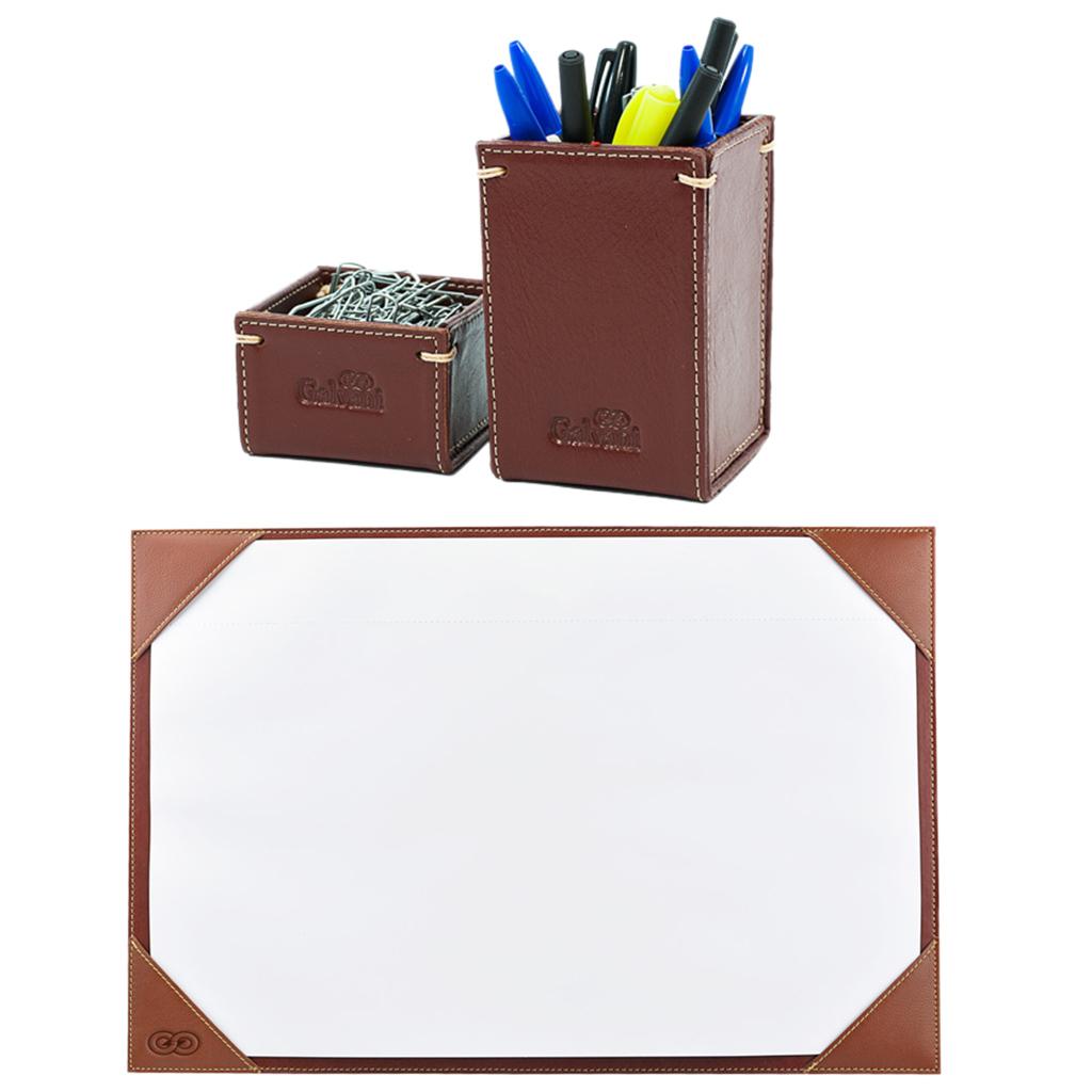 Kit para mesa escritório em couro legítimo CE3007