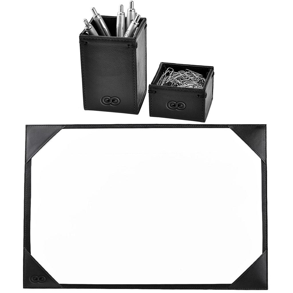 Kit para mesa Escritório em Couro Legítimo CE3007 Galvani