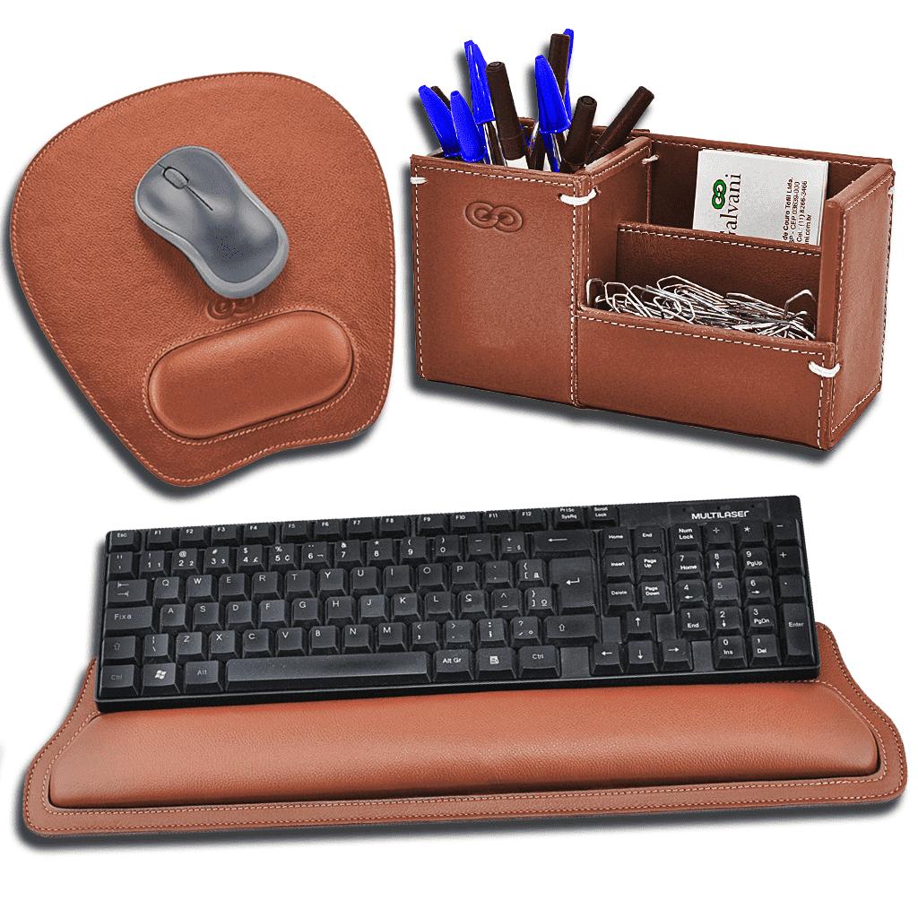 Kit para mesa escritório Pádua em Couro 3001- Galvani