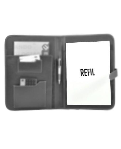 kit com 3 refis para porta receituario A4