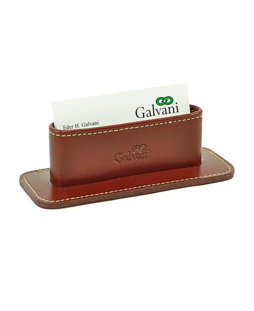 Porta Cartão de Mesa Public em Couro legítimo - Loja Galvani ... 0c1f8544a6a