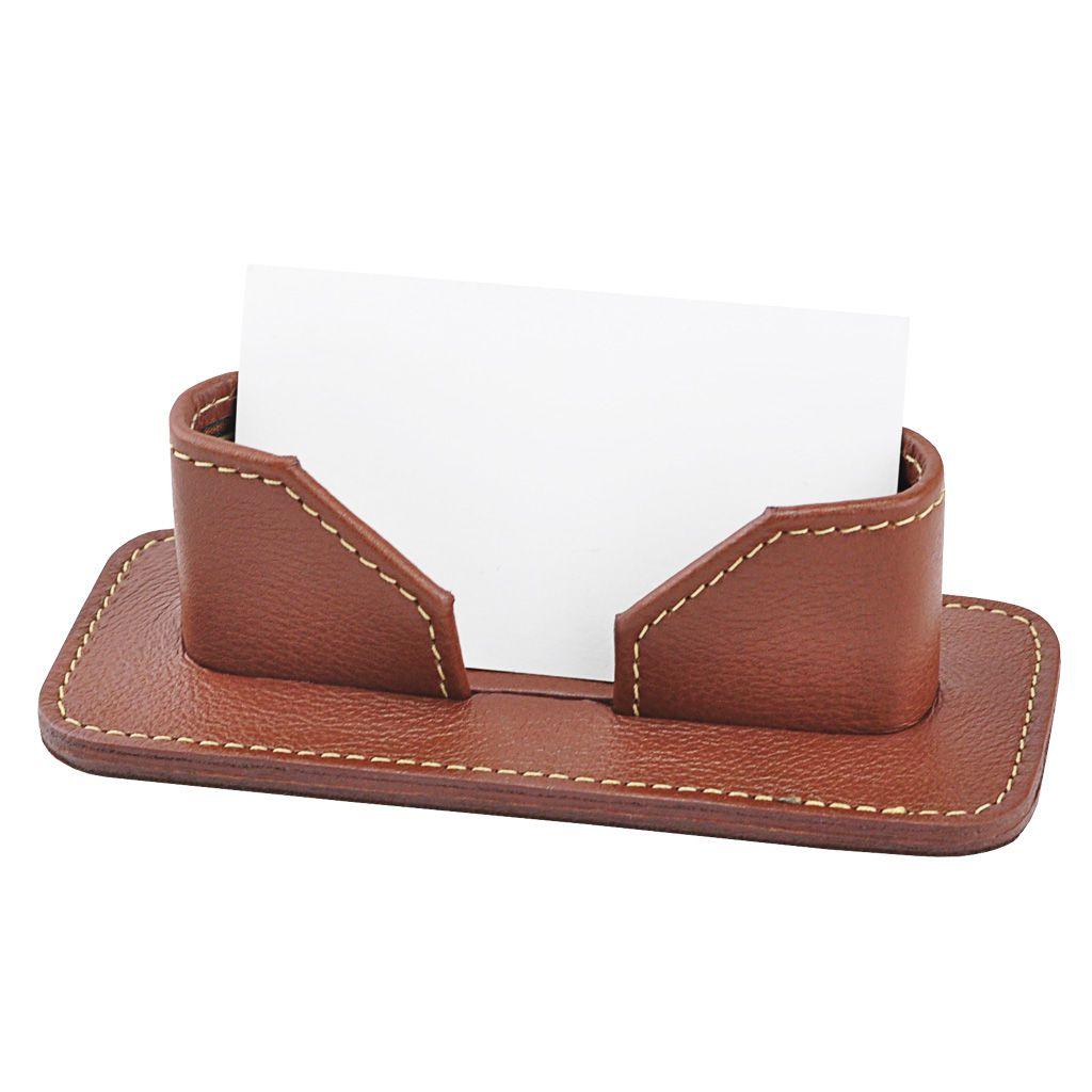 Porta Cartão de Mesa Public em Couro legítimo