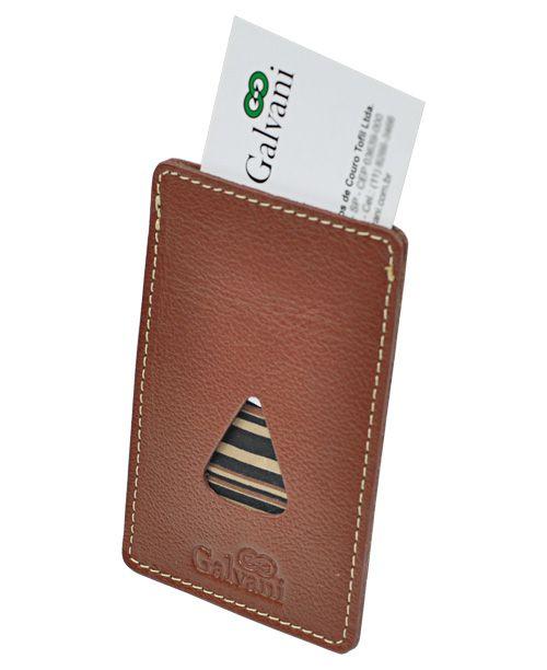 Porta Cartões de Visita Tiziu em Couro