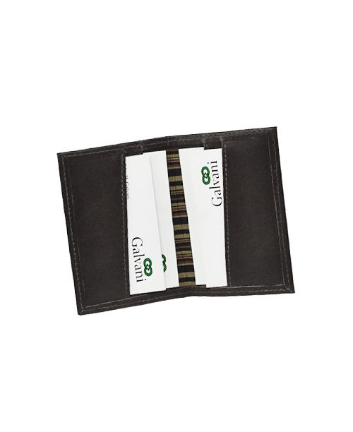 Porta Cartões de Visita Flautim em Couro
