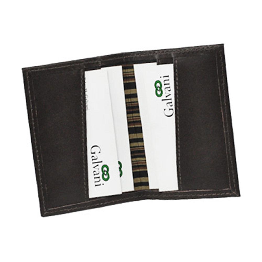 Porta Cartões de Visita Flautim em Couro Legítimo 44 Galvani