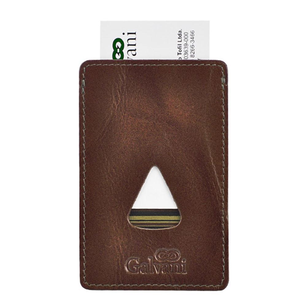 Porta Cartões de Visita Tiziu em Couro Legítimo 43 Galvani