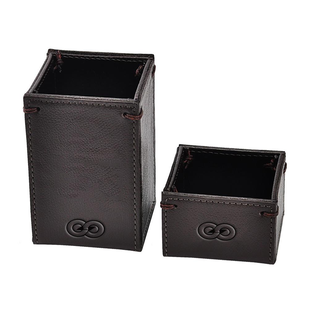 Porta Clips e Canetas Logis em Couro Legítimo 7901 Galvani