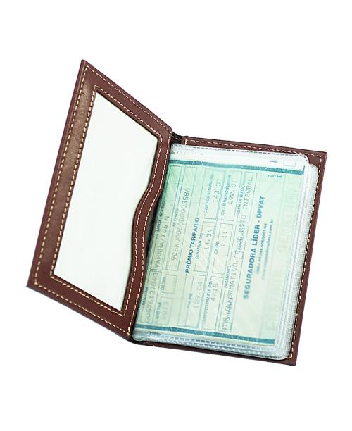 Porta Documentos de Veículo Ocean em Couro