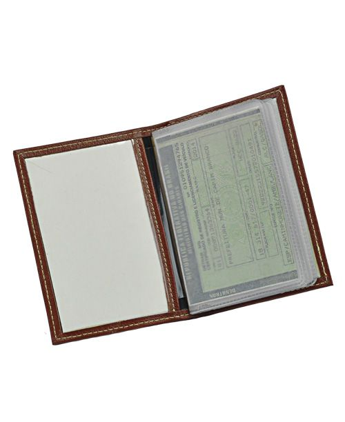 Porta Documentos de Veículo Aqua em Couro