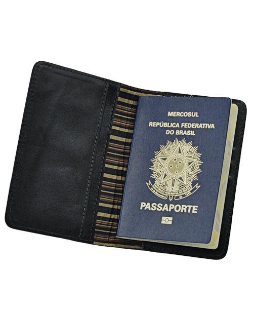 Porta Passaporte Go em Couro legítimo