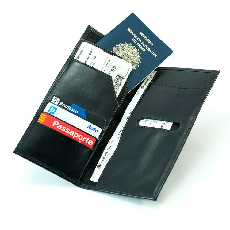 Porta Travel / Voucher Tour em Couro