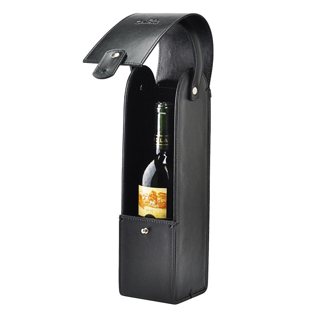 Porta Vinho Tint em Couro legítimo