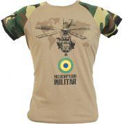 Camiseta Helicóptero Militar Caqui
