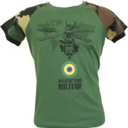Camiseta Helicóptero Militar Verde