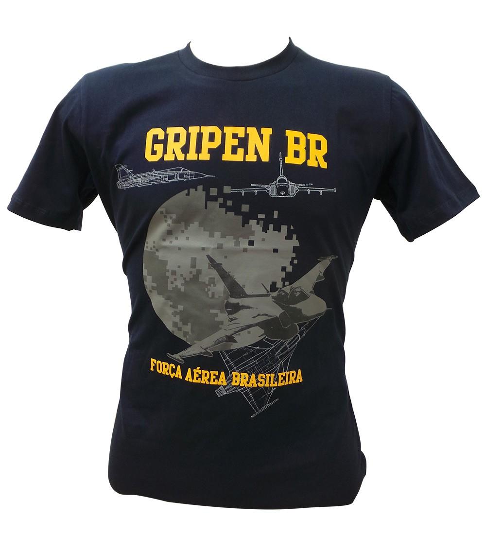 Camiseta Caça Gripen Azul