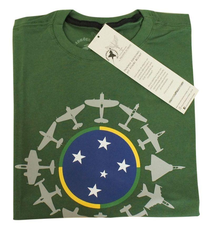 Camiseta Caças da FAB Verde