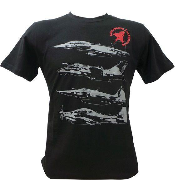 Camiseta Caças Fab Preta
