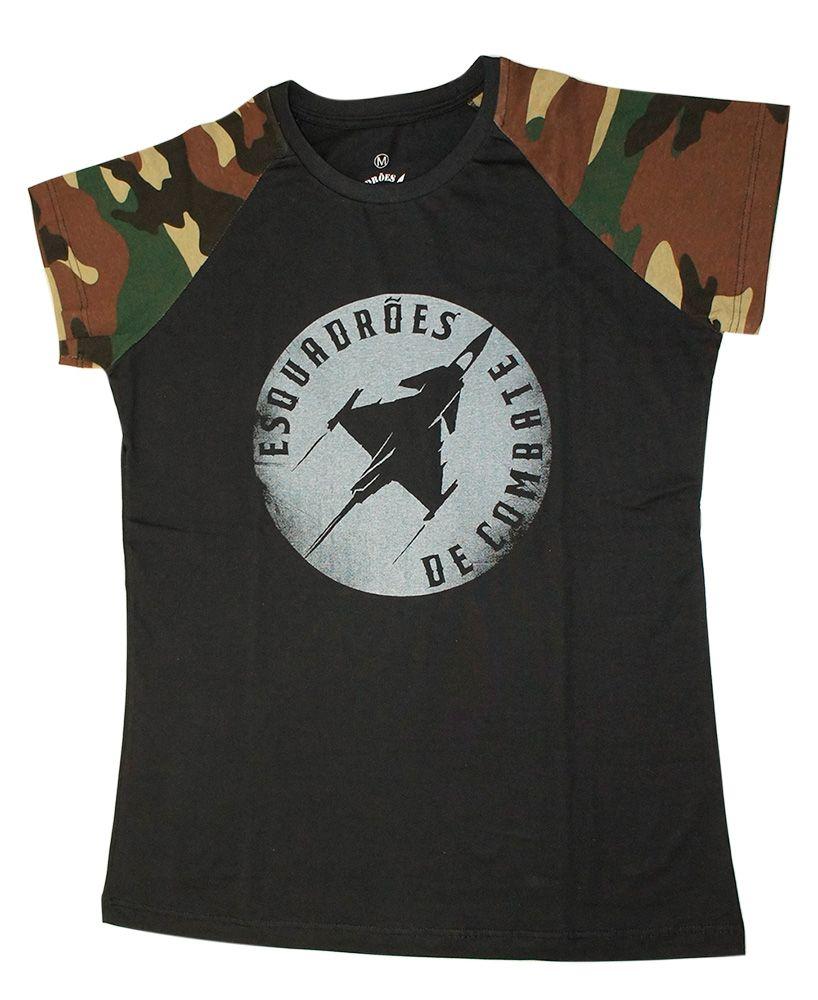 Camiseta Camuflada Feminina