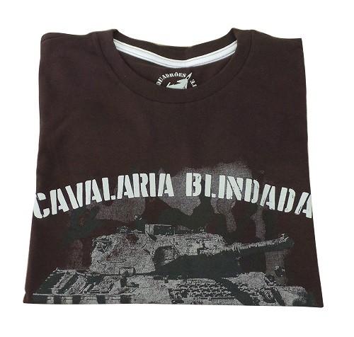 Camiseta Cavalaria Blindada Marrom
