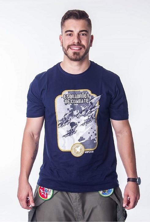 Camiseta Esquadrão Gripen Azul