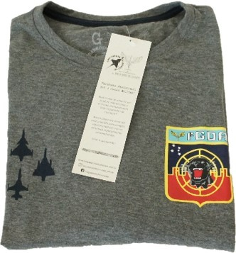 Camiseta F-39 Gripen Cinza