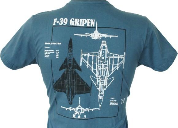 Camiseta F-39 Gripen Azul