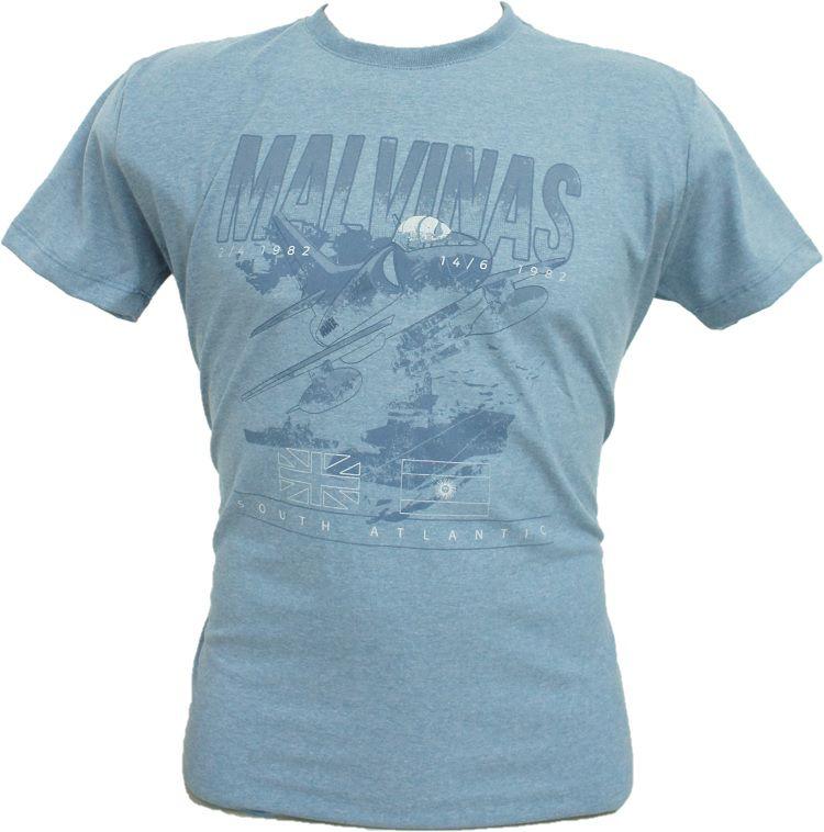 Camiseta Guerra das Malvinas Azul