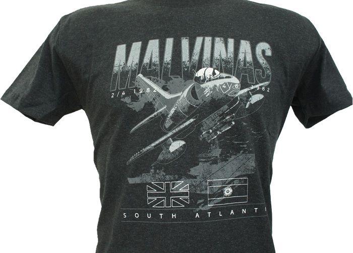 Camiseta Guerra das Malvinas Cinza