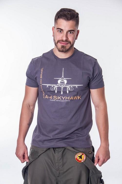 Camiseta Marinha Skyhawk Cinza Escuro