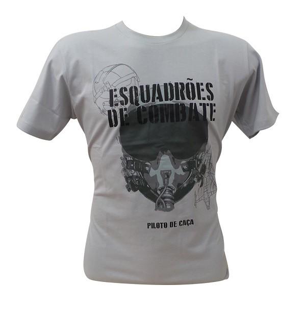 Camiseta Piloto de Caça Cinza