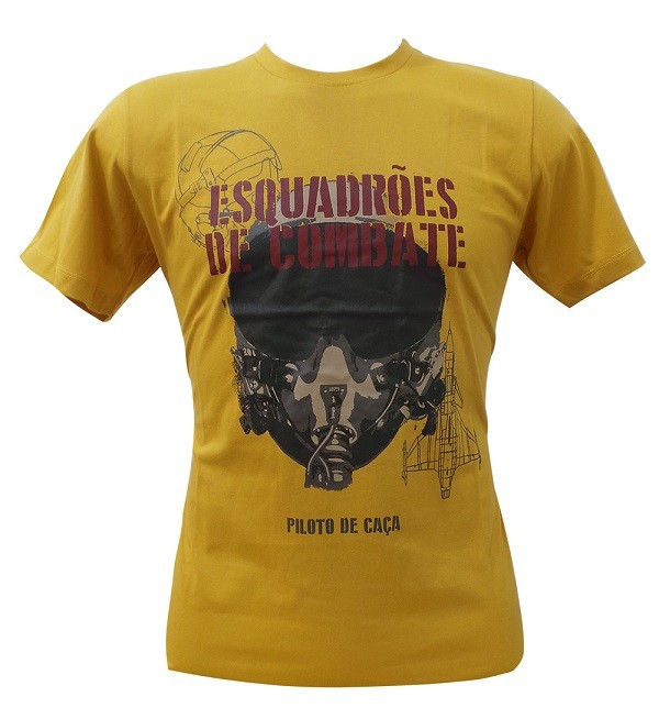 Camiseta Piloto de Caça Mostarda
