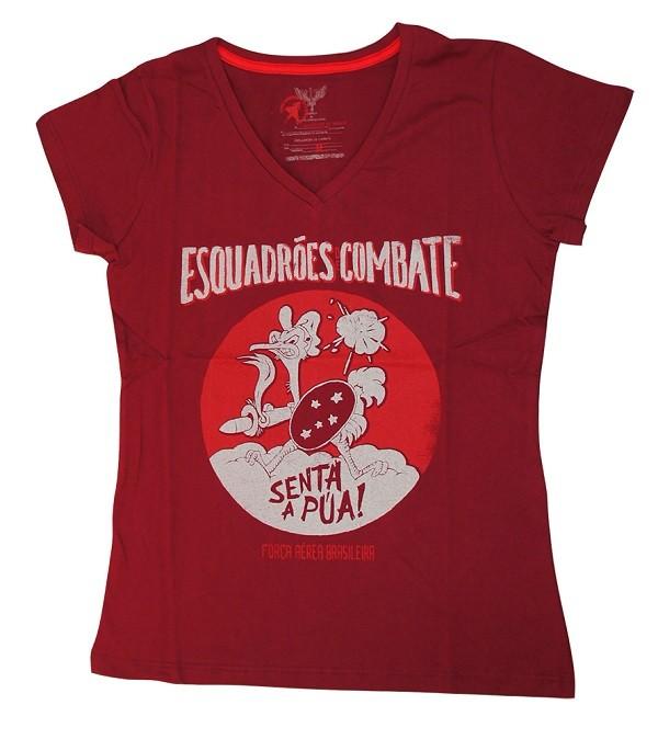 Camiseta Senta Pua Vinho Fem