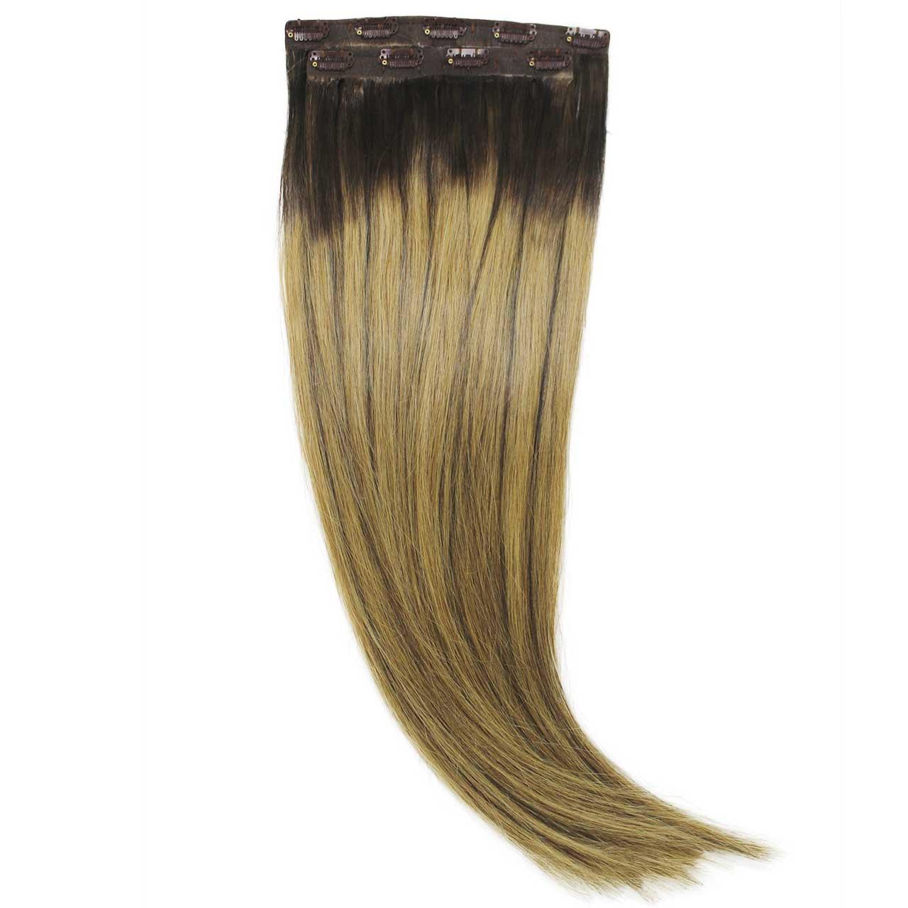 Aplique Tic Tac Ombré Hair 120g Cabelos Humanos Naturais Liso