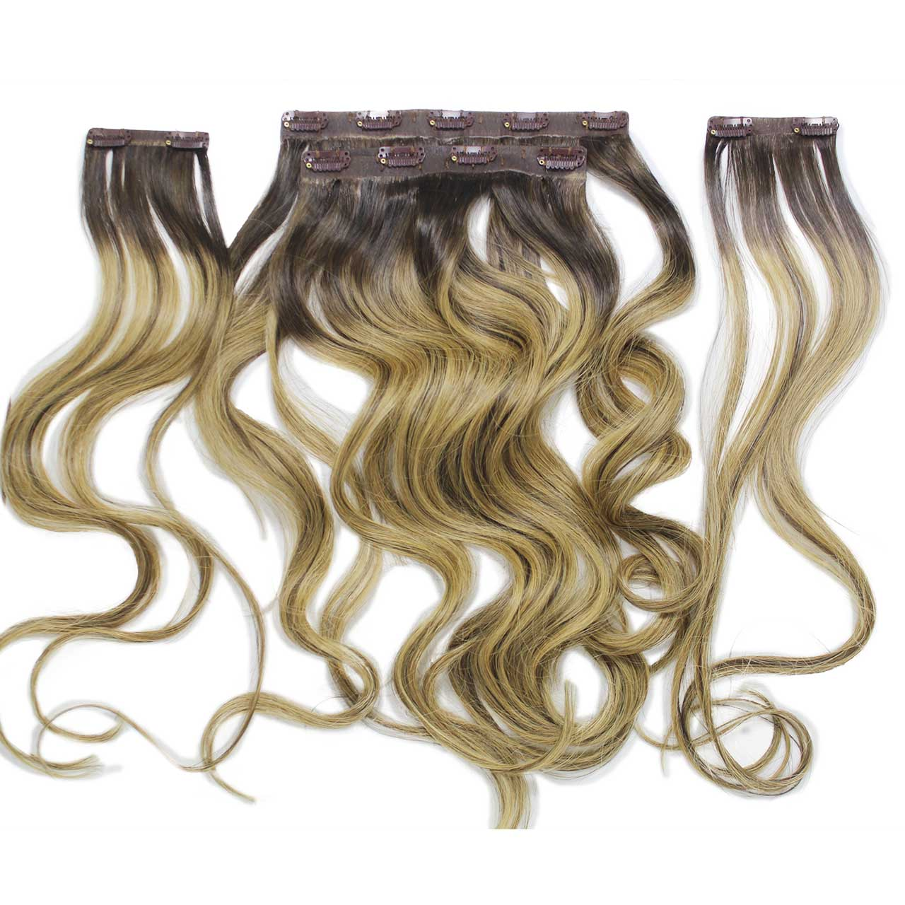 Aplique Tic Tac Ombré Hair 80g Cabelos Humanos Naturais Liso